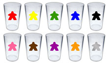 Meeple Pint Glass (Plastic)