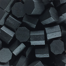 Black Wooden Octagons (10x10x10mm)