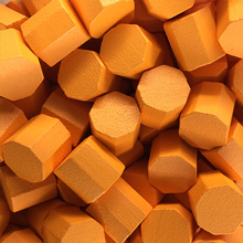 Orange Wooden Octagons (10x10x10mm)