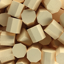 Tan Wooden Octagons (10x10x10mm)