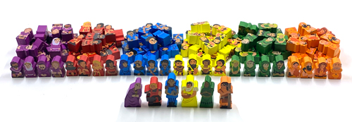 126-piece Character Meeple Set for Architects of the West Kingdom and Age of Artisans
