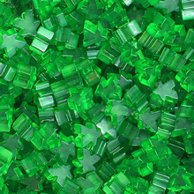 "Transparent ""Green"" Acrylic Mini Meeples (12mm)"