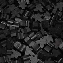 Black Mini Meeples (12mm)