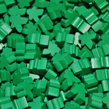 Green Mini Meeples (12mm)