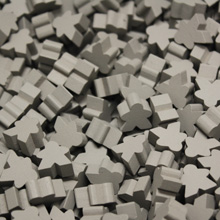 Grey Mini Meeples (12mm)