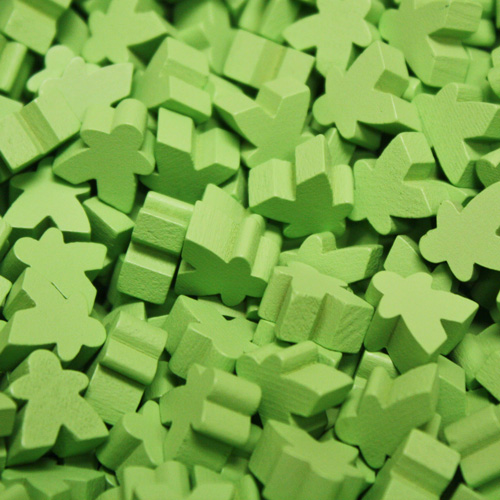 Lime Green Mini Meeples (12mm)