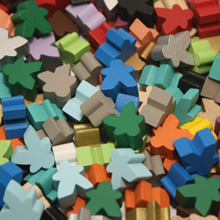 Multi Pack of All Mini Meeples (12mm) - All 21 Colors!