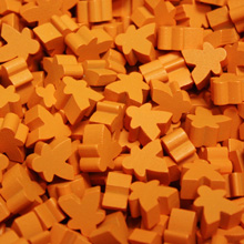 Orange Mini Meeples (12mm)