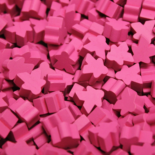 Pink Mini Meeples (12mm)