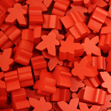 Red Mini Meeples (12mm)