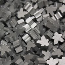 Silver Mini Meeples (12mm)