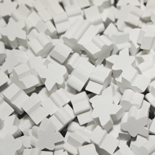 White Mini Meeples (12mm)
