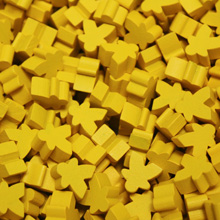 Yellow Mini Meeples (12mm)