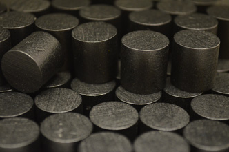 Black Wooden Cylinders (15x15mm)