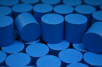 Blue Wooden Cylinders (15x15mm)