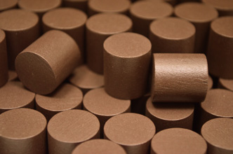 Brown Wooden Cylinders (15x15mm)