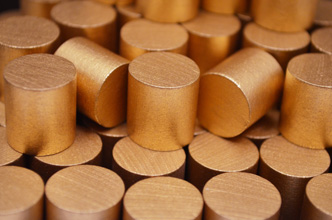 Metallic Copper Wooden Cylinders (15x15mm)