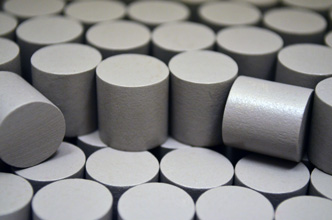 Grey Wooden Cylinders (15x15mm)