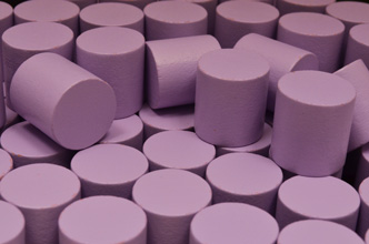 Lavender Wooden Cylinders (15x15mm)