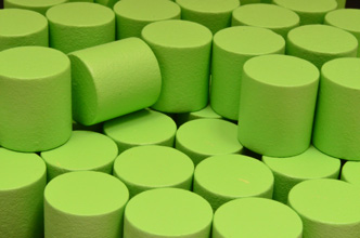 Lime Green Wooden Cylinders (15x15mm)