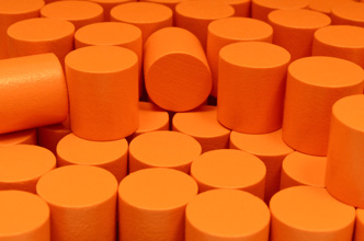 Orange Wooden Cylinders (15x15mm)