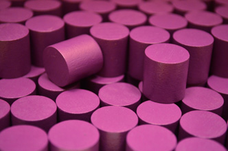 Purple Wooden Cylinders (15x15mm)