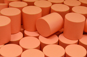 Salmon Wooden Cylinders (15x15mm)