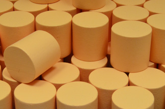 Tan Wooden Cylinders (15x15mm)