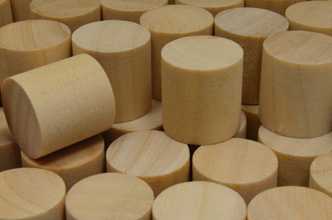 Unpainted Wooden Cylinders (15x15mm)