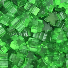 "Transparent ""Green"" Acrylic Meeples (16mm)"