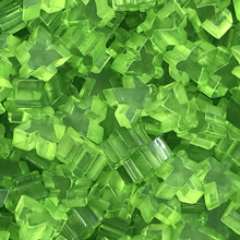 "10-piece Set of Transparent ""Lime Green"" Acrylic Meeples (16mm) - Oct. 2017 Print Run"