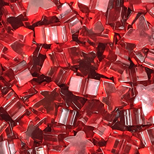 "Transparent ""Red"" Acrylic Meeples (16mm)"