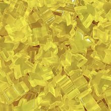 "Transparent ""Yellow"" Acrylic Meeples (16mm)"
