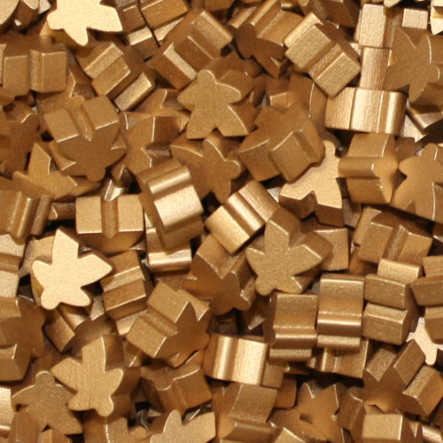 Metallic Copper Meeples (16mm)