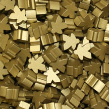 Metallic Gold Meeples (16mm) OUT OF STOCK