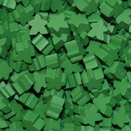 Green Meeples (16mm)