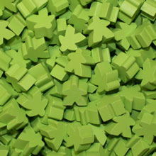 Lime Green Meeples (16mm)