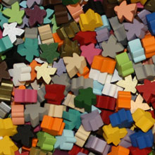 Multi Pack of All Standard Meeples (16mm) - All 21 Colors!
