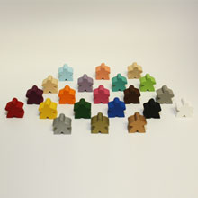 Sampler Pack of All Standard Meeples (16mm) - 1-of-each of all 21 colors!