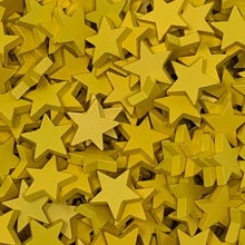 Large Yellow Stars (19 mm)