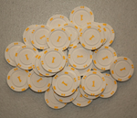 10 mini poker chips (numbered)