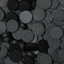 Black Wooden Discs (15mm x 4mm)