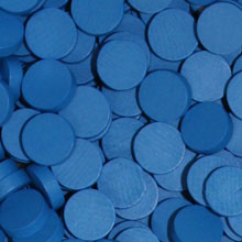 Blue Wooden Discs (15mm x 4mm)