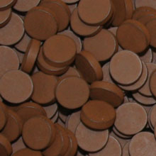 Brown Wooden Discs (15mm x 4mm)