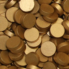 Metallic Copper Wooden Discs (15mm x 4mm)