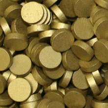 Metallic Gold Wooden Discs (15mm x 4mm)