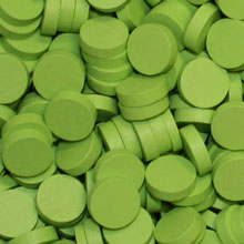 Lime Green Wooden Discs (15mm x 4mm)