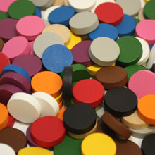 210-piece Mixed Pack of Discs (15mm x 4mm) - 21 different colors!