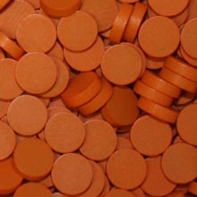 Orange Wooden Discs (15mm x 4mm)