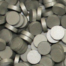 Metallic Silver Wooden Discs (15mm x 4mm)